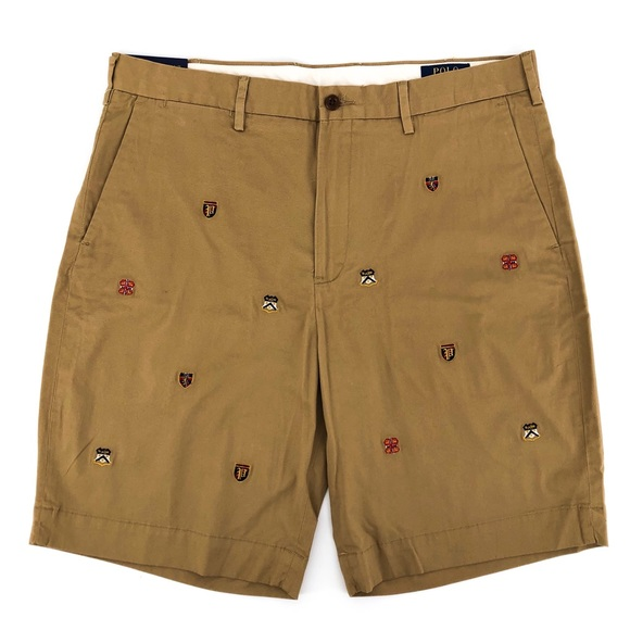 Pink//White RRP £98 Ralph Lauren Men's Stretch Classic Fit Shorts